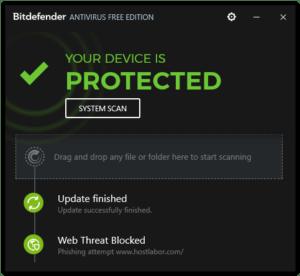 Bitdefender Free Edition 2017