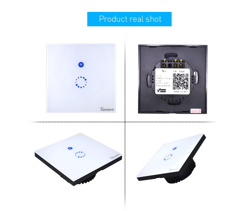 Intrerupator SMART ieftin cu control prin internet si ecran de sticla