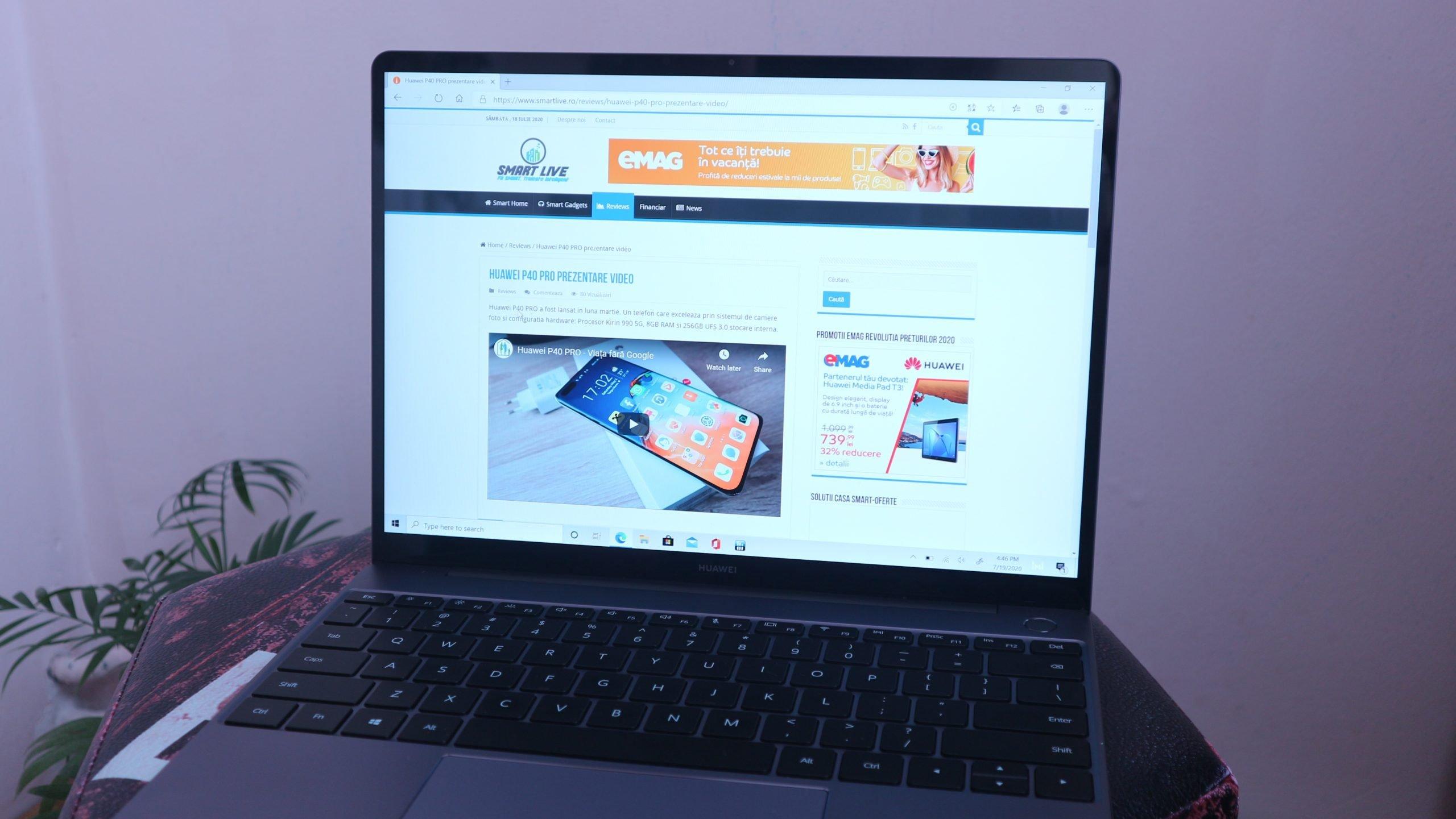 Huawei MateBook 13 aspect